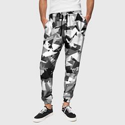 Брюки на резинке мужские Городской серый камуфляж цвета 3D-принт — фото 2