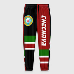 Брюки на резинке мужские Chechnya, Russia цвета 3D-принт — фото 1