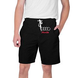Шорты на шнурке мужские AUDI цвета 3D-принт — фото 1