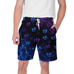 Шорты на шнурке мужские Marshmello цвета 3D-принт — фото 1