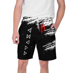 Шорты на шнурке мужские ВЕДЬМАК цвета 3D — фото 1