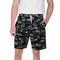 Шорты на шнурке мужские Минус семь цвета 3D-принт — фото 1