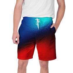 Мужские шорты Синий и красный