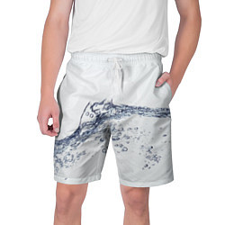 Шорты на шнурке мужские Белая вода цвета 3D — фото 1