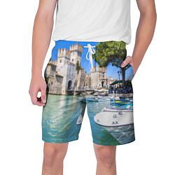 Шорты на шнурке мужские Италия цвета 3D — фото 1