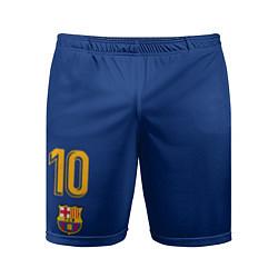 Шорты спортивные мужские FCB: Lionel Messi 2018 цвета 3D — фото 1