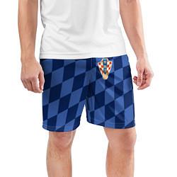 Шорты спортивные мужские Сборная Хорватии цвета 3D — фото 2