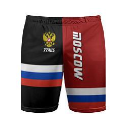 Шорты спортивные мужские Moscow, Russia цвета 3D — фото 1