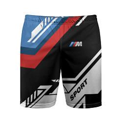 Шорты спортивные мужские BMW: M Sport цвета 3D — фото 1