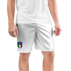 Шорты спортивные мужские Форма сборной Италии домашняя цвета 3D-принт — фото 2