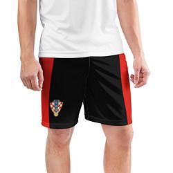 Шорты спортивные мужские Шорты Сборной Хорватии цвета 3D-принт — фото 2