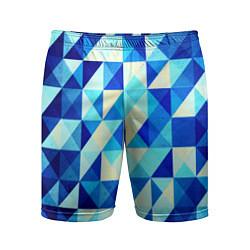 Мужские спортивные шорты Синяя геометрия