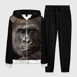 Костюм мужской Глаза гориллы цвета 3D-белый — фото 1