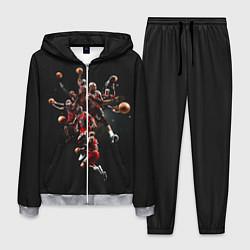 Костюм мужской Michael Jordan Style цвета 3D-меланж — фото 1