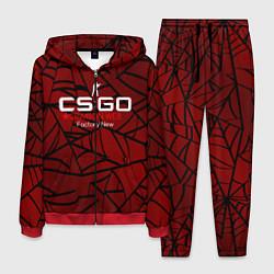 Костюм мужской Cs:go - Crimson Web Style Factory New Кровавая пау цвета 3D-красный — фото 1