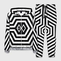 Костюм мужской EXO Geometry цвета 3D-меланж — фото 1