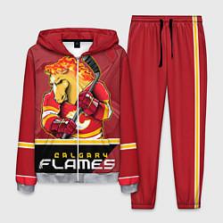 Костюм мужской Calgary Flames цвета 3D-меланж — фото 1