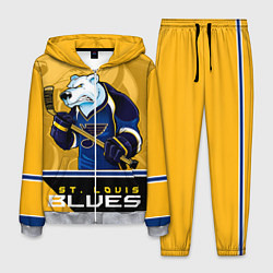 Костюм мужской St. Louis Blues цвета 3D-меланж — фото 1