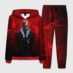 Костюм мужской Hitman: Red Blood цвета 3D-красный — фото 1