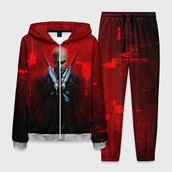 Костюм мужской Hitman: Red Blood цвета 3D-меланж — фото 1