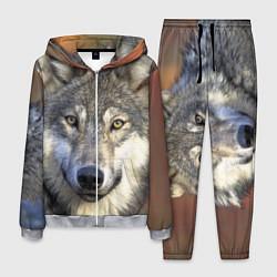 Костюм мужской Улыбка волка цвета 3D-меланж — фото 1