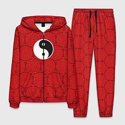 Костюм мужской Yin Yang цвета 3D-красный — фото 1