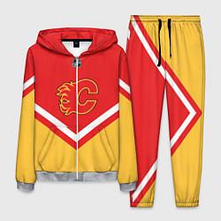 Костюм мужской NHL: Calgary Flames цвета 3D-меланж — фото 1