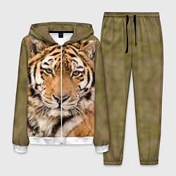 Костюм мужской Милый тигр цвета 3D-белый — фото 1