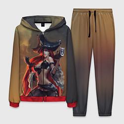 Костюм мужской Пират цвета 3D-красный — фото 1