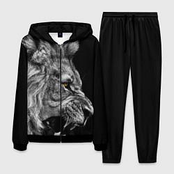 Костюм мужской Оскал льва цвета 3D-черный — фото 1