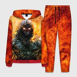 Костюм мужской Disturbed: Monster Flame цвета 3D-красный — фото 1