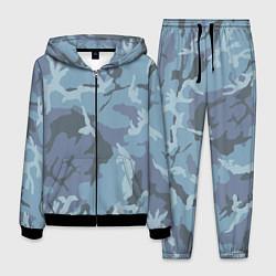 Костюм мужской Камуфляж: голубой/синий цвета 3D-черный — фото 1