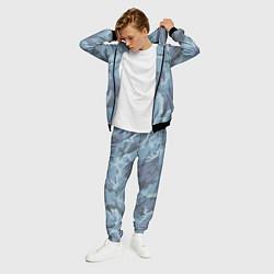 Костюм мужской Камуфляж: голубой/синий цвета 3D-черный — фото 2