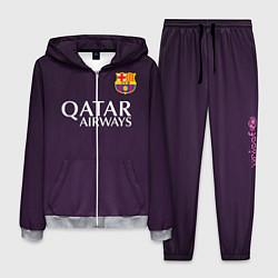 Костюм мужской Barcelona FC: Violet цвета 3D-меланж — фото 1