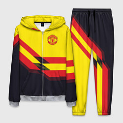 Костюм мужской Man United FC: Yellow style цвета 3D-меланж — фото 1