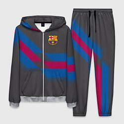 Костюм мужской Barcelona FC: Dark style цвета 3D-меланж — фото 1
