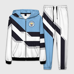 Костюм мужской Manchester City FC: White style цвета 3D-черный — фото 1