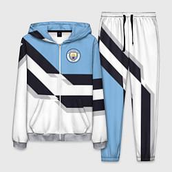 Костюм мужской Manchester City FC: White style цвета 3D-меланж — фото 1