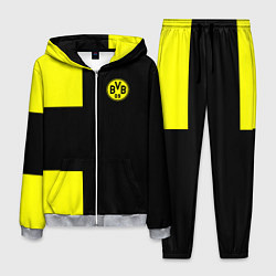 Костюм мужской BVB FC: Black style цвета 3D-меланж — фото 1