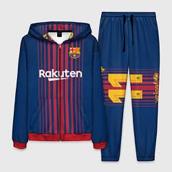 Костюм мужской Barcelona FC: Neymar Home 17/18 цвета 3D-красный — фото 1