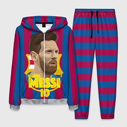 Костюм мужской FCB Lionel Messi цвета 3D-меланж — фото 1
