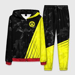 Костюм мужской FC Borussia Dortmund: Abstract цвета 3D-красный — фото 1