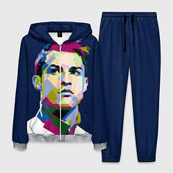 Костюм мужской Cristiano Ronaldo Art цвета 3D-меланж — фото 1