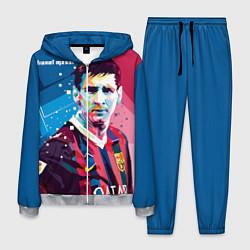Костюм мужской Lionel Messi цвета 3D-меланж — фото 1