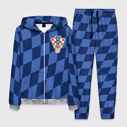 Костюм мужской Сборная Хорватии цвета 3D-меланж — фото 1