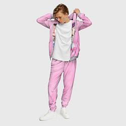 Костюм мужской Lil Peep: Pink Style цвета 3D-меланж — фото 2