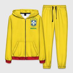 Костюм мужской Сборная Бразилии цвета 3D-красный — фото 1