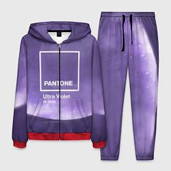 Костюм мужской Pantone: Ultra Violet Space цвета 3D-красный — фото 1