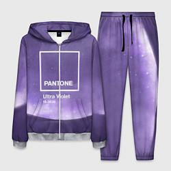 Костюм мужской Pantone: Ultra Violet Space цвета 3D-меланж — фото 1
