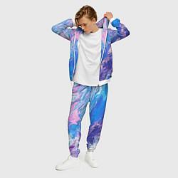 Костюм мужской Tie-Dye Blue & Violet цвета 3D-белый — фото 2